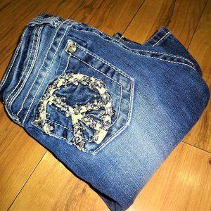 Miss Me Kids denim PEACE bling jeans 10